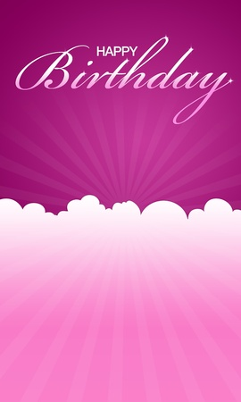 name day: High resolution pink happy birthday card ready to print.