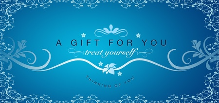 High resolutions gift certificate graphic with floral ornaments.  photo