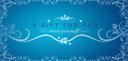 geschenkgutschein: Hohe Aufl�sungen Geschenkgutschein Grafik mit floralen Ornamente.