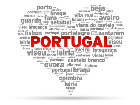 I Love Portugal Illustration on white background.