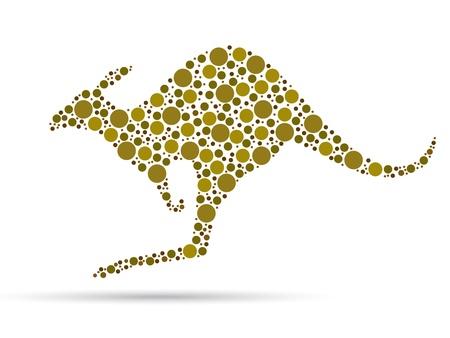 Kangaroo illustration islolated on white backgroung.