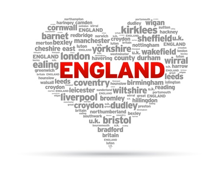 I Love England Illustration on white background. Illustration