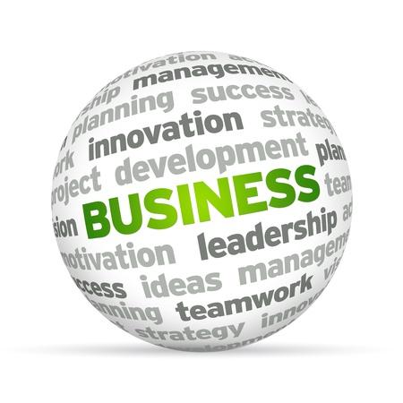 n�gociation: 3d Sph�re Parole d'affaires sur fond blanc.