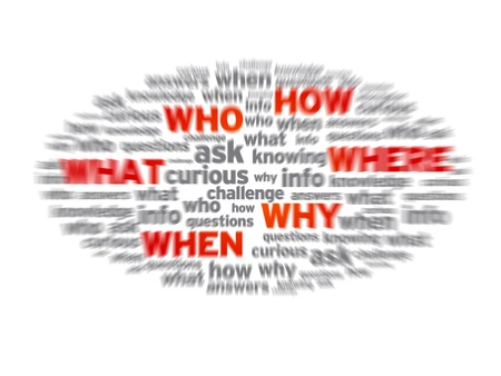 Blurred questions concept illustration on white background.  Stock fotó