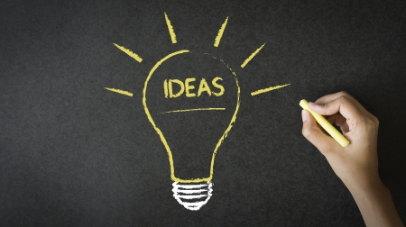 inventing: Ideas Lightbulb Stock Photo