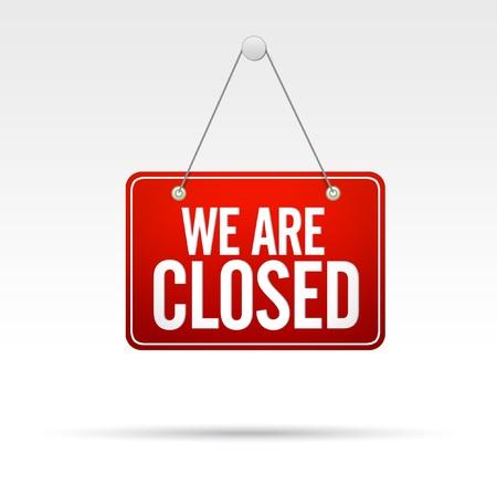 Wij zijn gesloten