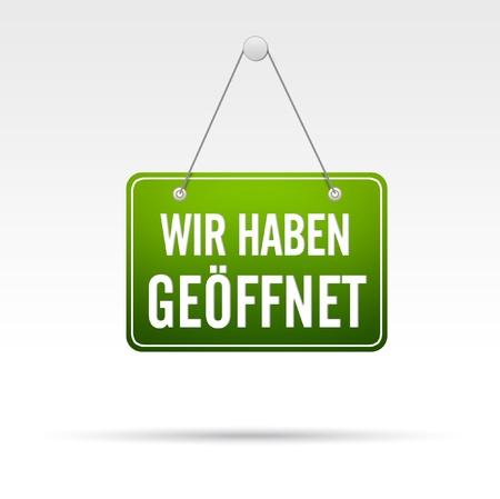 ferien: Wir Haben Ge�ffnet Stock Photo