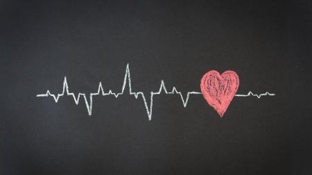 Chalk Illustration of a Heartbeat Diagram.