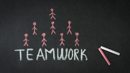 Teamwork Illustration with stick people. Stock Illustration - 18306904