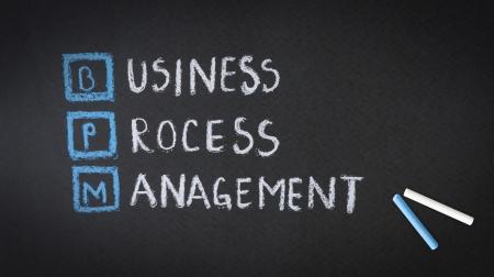 Business Process Management chalk illustration on a blackboard. Stock Illustration - 19109834