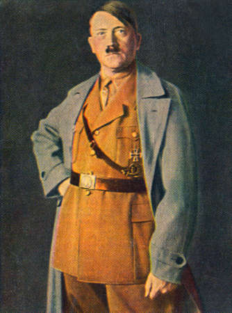 adolf hitler: Rare German vintage cigarette card from the 1933 KAMPF UMS DRITTE REICH album. Editorial