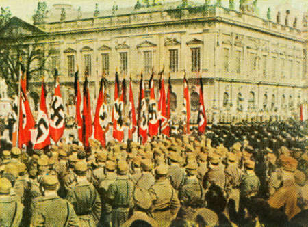 reich: CIRCA 1933: Rare German vintage cigarette card from the 1933 Kampf ums dritte Reich album