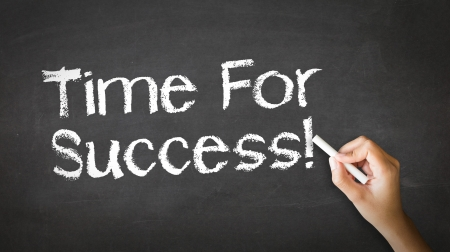 A person drawing and pointing at a Time for Success Chalk Illustration Stock Illustration - 20895871