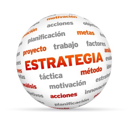3d Strategy Word Sphere isolated on white background. Stock Photo - 20896148