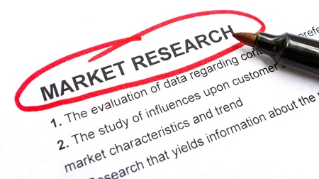 circled: Market Research explanation with heading circled in red.