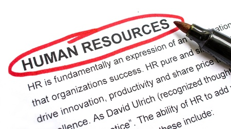 Human resources explanation with heading circled in red.