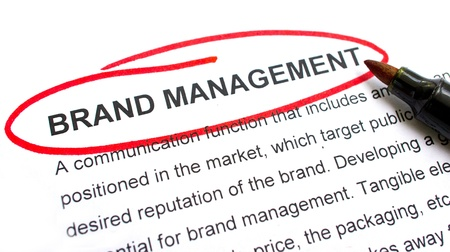Brand Management explanation with heading circled in red. photo