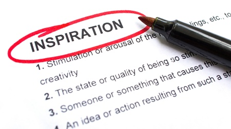Inspiration explanation with heading circled in red. Stock Photo - 22302506