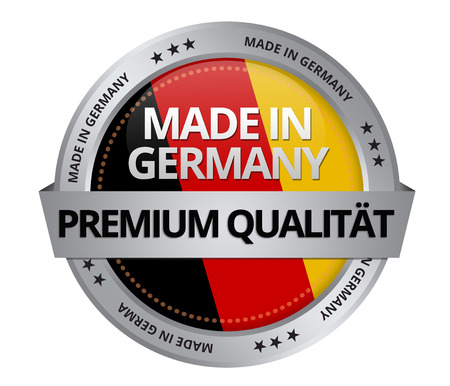 Made in Germany pictogram op witte achtergrond Stockfoto