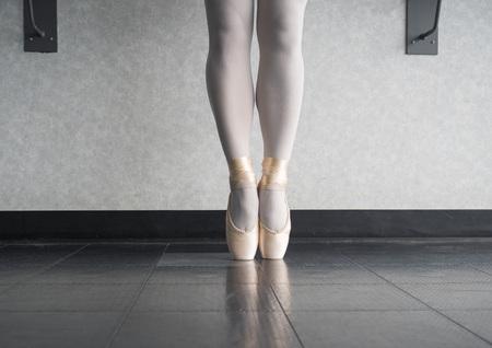 Ballet dancer En pointe in her dance shoes