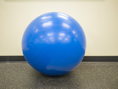 Isolated Blue Fitness Ball Stock Photo - 104916570