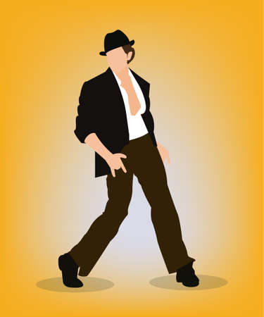 Vector illustration of a person performing Bollywood style dance moves as seen in Indian cinema.