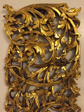 decoration: Gold leaf carved wood accent
