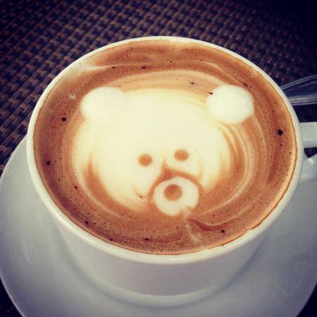 cappuccino foam: Cappuccino foam bear