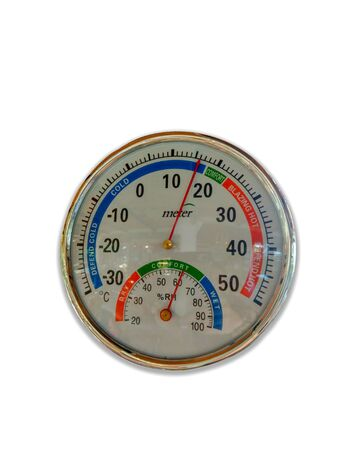 Round thermometer And measure the relative humidity