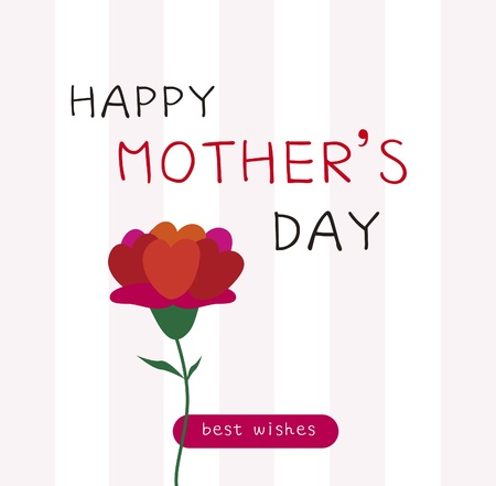 mother s day: Happy Mother s Day card illustration
