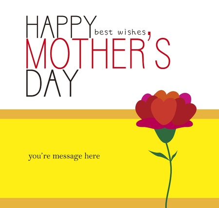 Happy Mother s Day card illustration