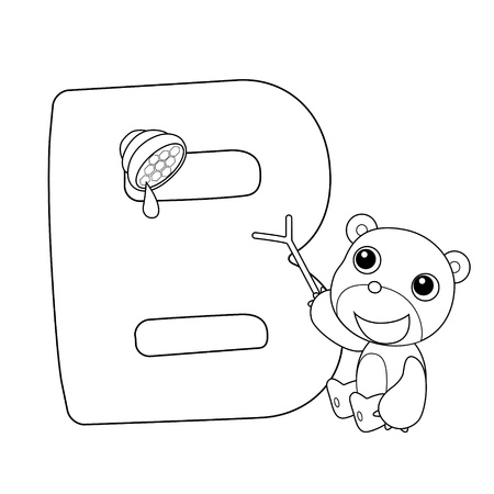 the infancy: Coloring Alphabet for Kids,B