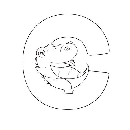 school of fish: Coloring Alphabet for Kids,C