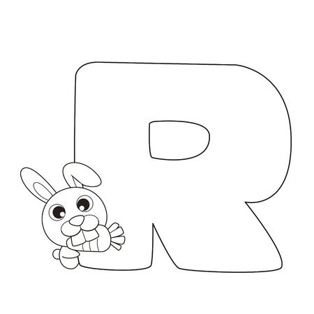 spelling: Coloring Alphabet for Kids,R