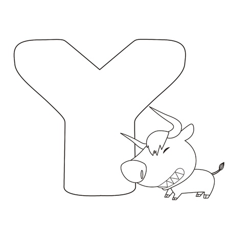 yak: Coloring Alphabet for Kids,Y