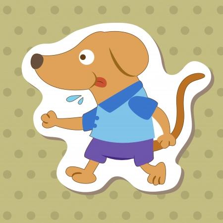 cute cartoon animal with dog  Vector