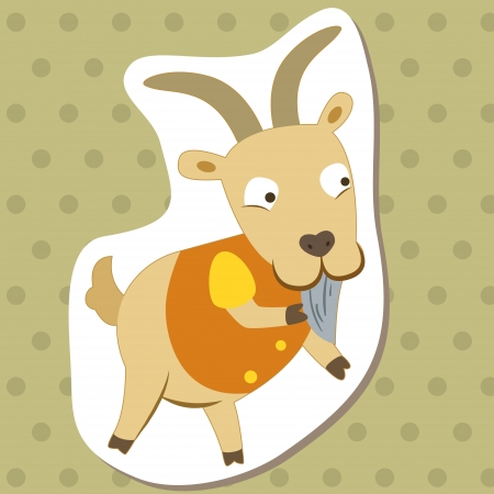 kid goat: cute cartoon animal with goat  Illustration