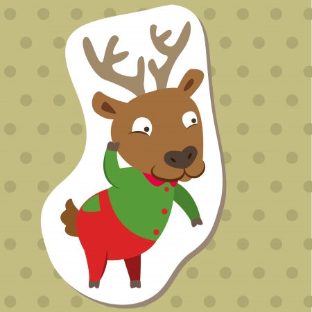 cute cartoon animal with elk  Vector