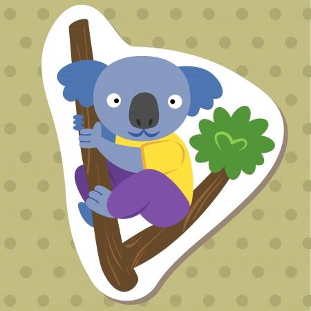 cute cartoon animal with koala  Vector