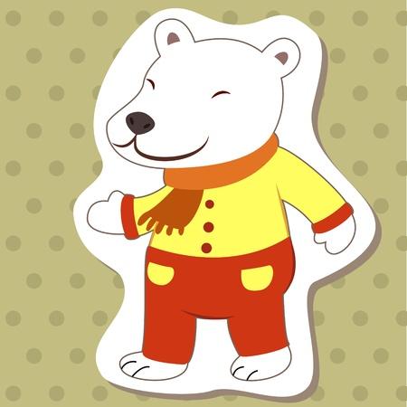cute cartoon animal with polar bear  Vector