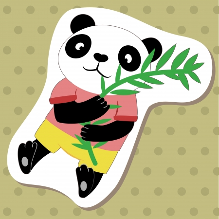 cute cartoon animal with panda  Stock Vector - 14810860