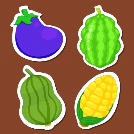 bitter: four cute vegetables collection