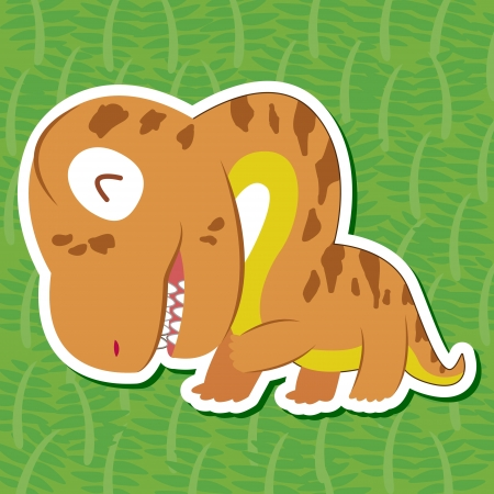 a cute dinosaur sticker with Camarasaurus Vector