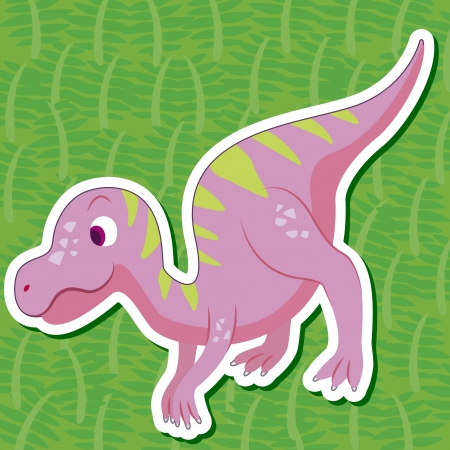 a cute dinosaur sticker with Maiasaura Vector