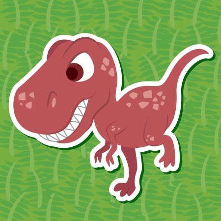a cute dinosaur sticker with Torvosaurus Vector