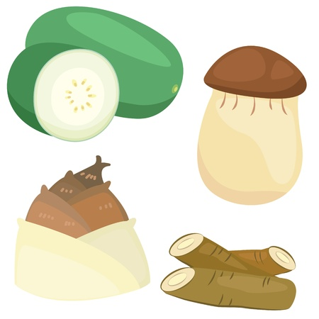 burdock: four cute vegetables collection