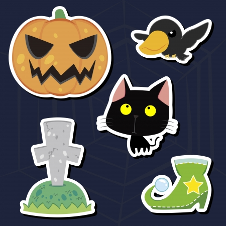 illustration of collection of Halloween icon set Stock Vector - 16360939
