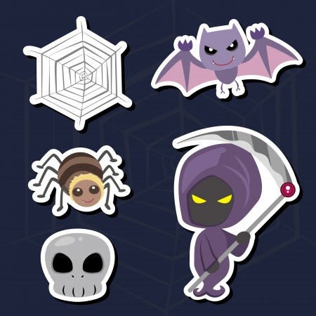 illustration of collection of Halloween icon set Stock Vector - 16360938