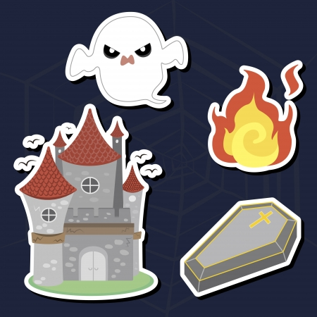 illustration of collection of Halloween icon set Stock Vector - 16360942