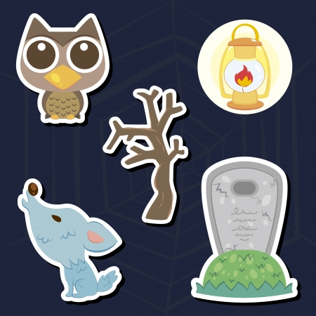 illustration of collection of Halloween icon set Stock Vector - 16373766